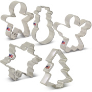Mini Christmas Cookie Cutter 5 pc Set