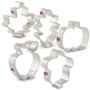 Mini Thanksgiving Cookie Cutter 5 pc Set