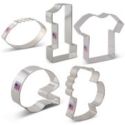 Football Cookie Cutter 5 pc Set