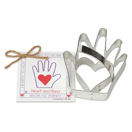 Heart 'n Hand Cookie Cutter - Traditional