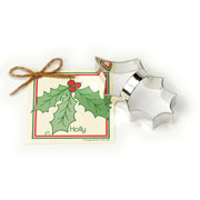Holly Leaf Cookie Cutter - Traditional