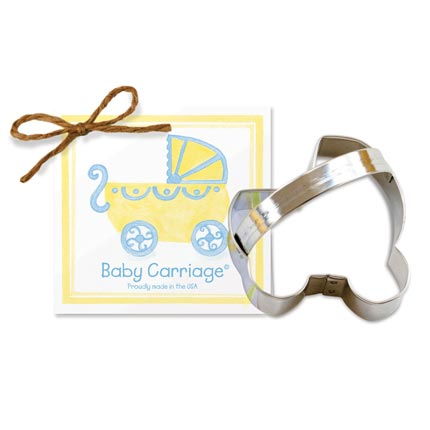 Baby Carriage Cookie Cutter - Traditional