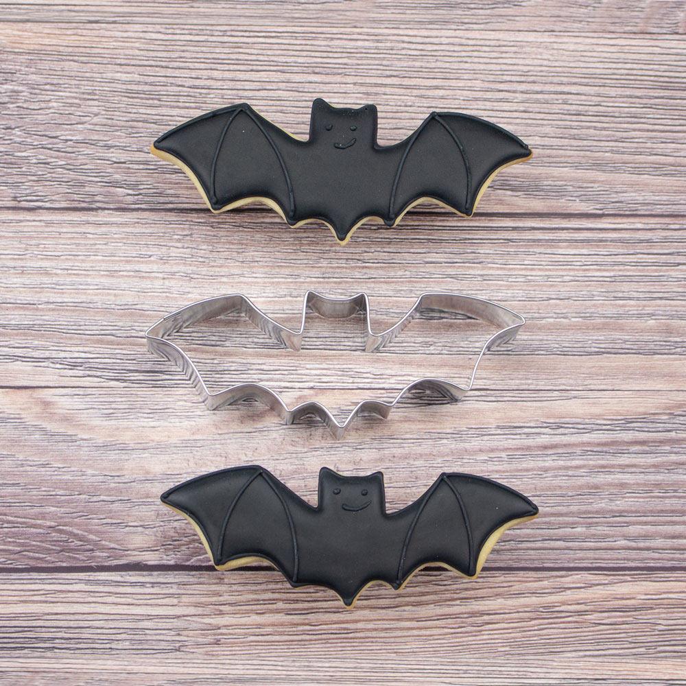 trick or treat cookie cutter Bat cookie cutter metal Halloween cookie cutter Halloween bat cookie cutter metal bat cookie cutter