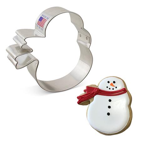 Snowman w/Scarf Cookie Cutter