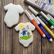Baby Onesie Marker cookie