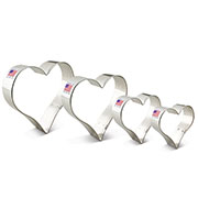 4 Piece Heart Cookie Cutter Set