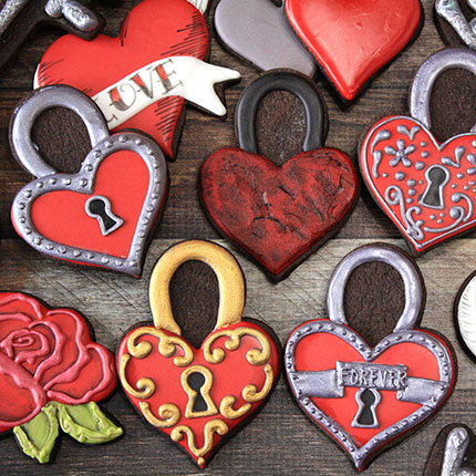 LilaLoa's Heart Padlock Cookie Cutter