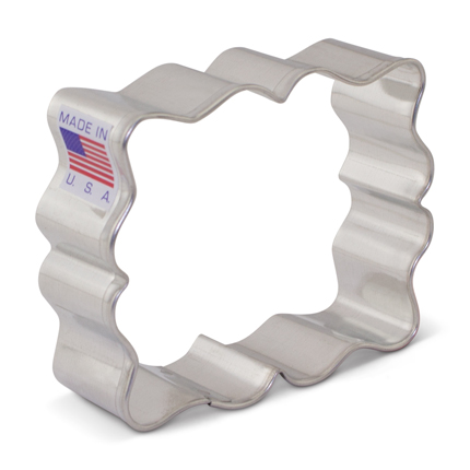 SweetAmbs' Small Fanciful Plaque Cookie Cutter
