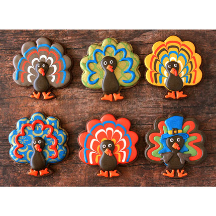 LilaLoa's Forward Facing Turkey Cookie Cutter