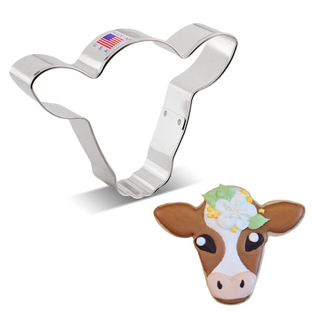 Cute Cow Face Cookie Cutter