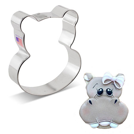 Hippo Face Cookie Cutter