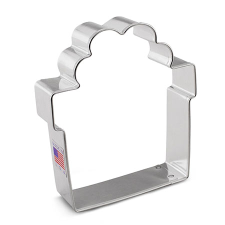Present with Bow Cookie Cutter by Flour Box Bakery, 3.25""