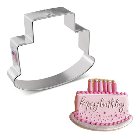 Cake Cookie Cutter by Flour Box Bakery, 4""