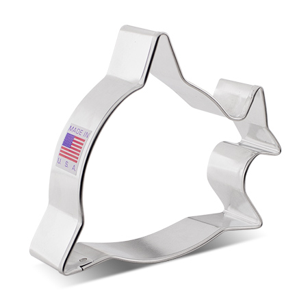 Front Facing Little Shark Cookie Cutter, 3.5""