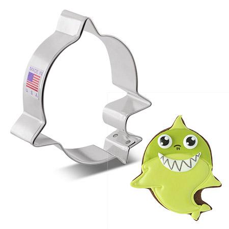 """Little Shark Cookie Cutter, 3.75"""""""