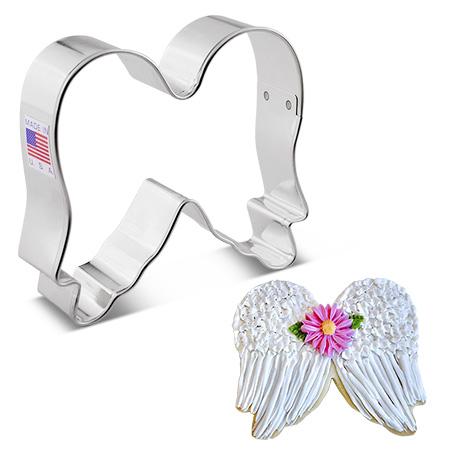 """Angel Wings Cookie Cutter, 3.50"""""""