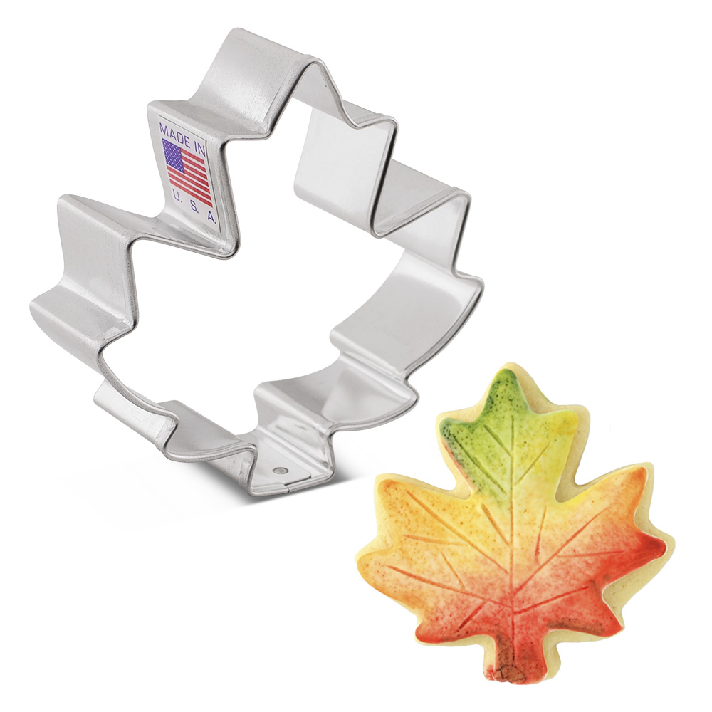 """Small Maple Leaf Cookie Cutter, 2.75"""""""