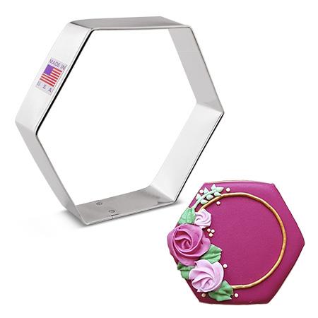 """Hexagon Cookie Cutter, 3.75"""""""