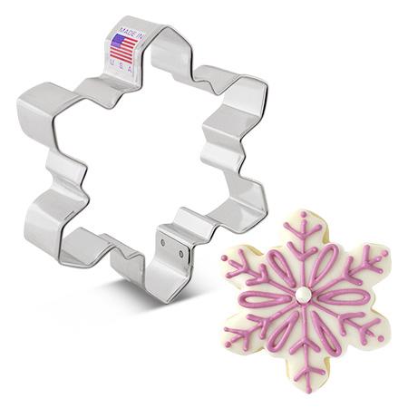 "Geometric Snowflake Cookie Cutter, 4"""