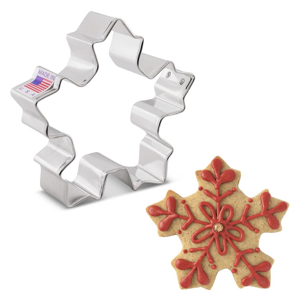 "Ann Clark Cookie Cutters Festive Snowflake Cookie Cutter, 3.25"""