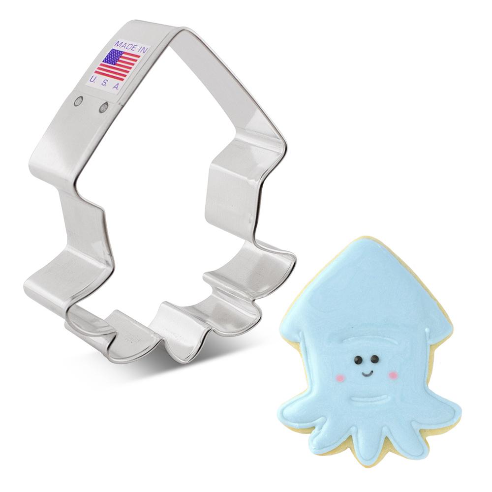 """Cute Squid Cookie Cutter, 3.75"""""""