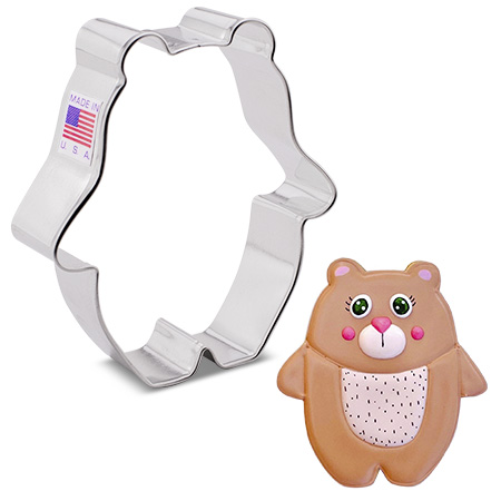 """Bear Hug Bear Cookie Cutter, 3.6"""""""