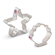 Beach Cookie Cutter 2 pc Set