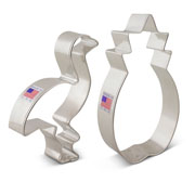 Tropical Cookie Cutter 2 pc Set