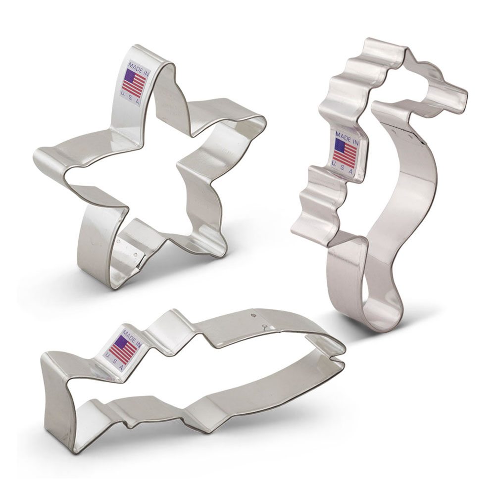 Under the Sea Cookie Cutter 3 pc Set