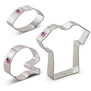 Football Cookie Cutter 3 pc set