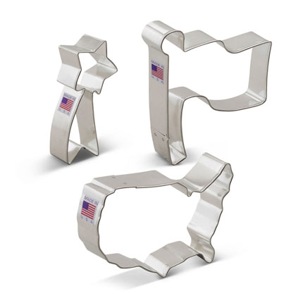Independence Day Cookie Cutter 3 pc set