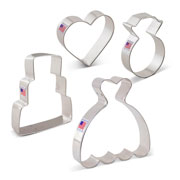 Wedding Cookie Cutter 4 pc set