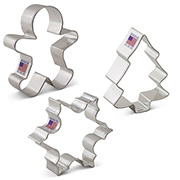 Christmas Cookie Cutters 3 pc set
