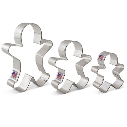 Gingerbread Man Cookie Cutter 3 pc Set