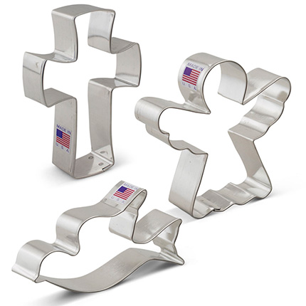 Religious Christmas Cookie Cutter 3 pc set