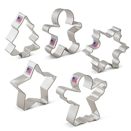 Christmas Cookie Cutter 5 pc set