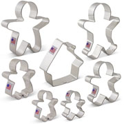 Gingerbread Man Cookie Cutter 7 pc set