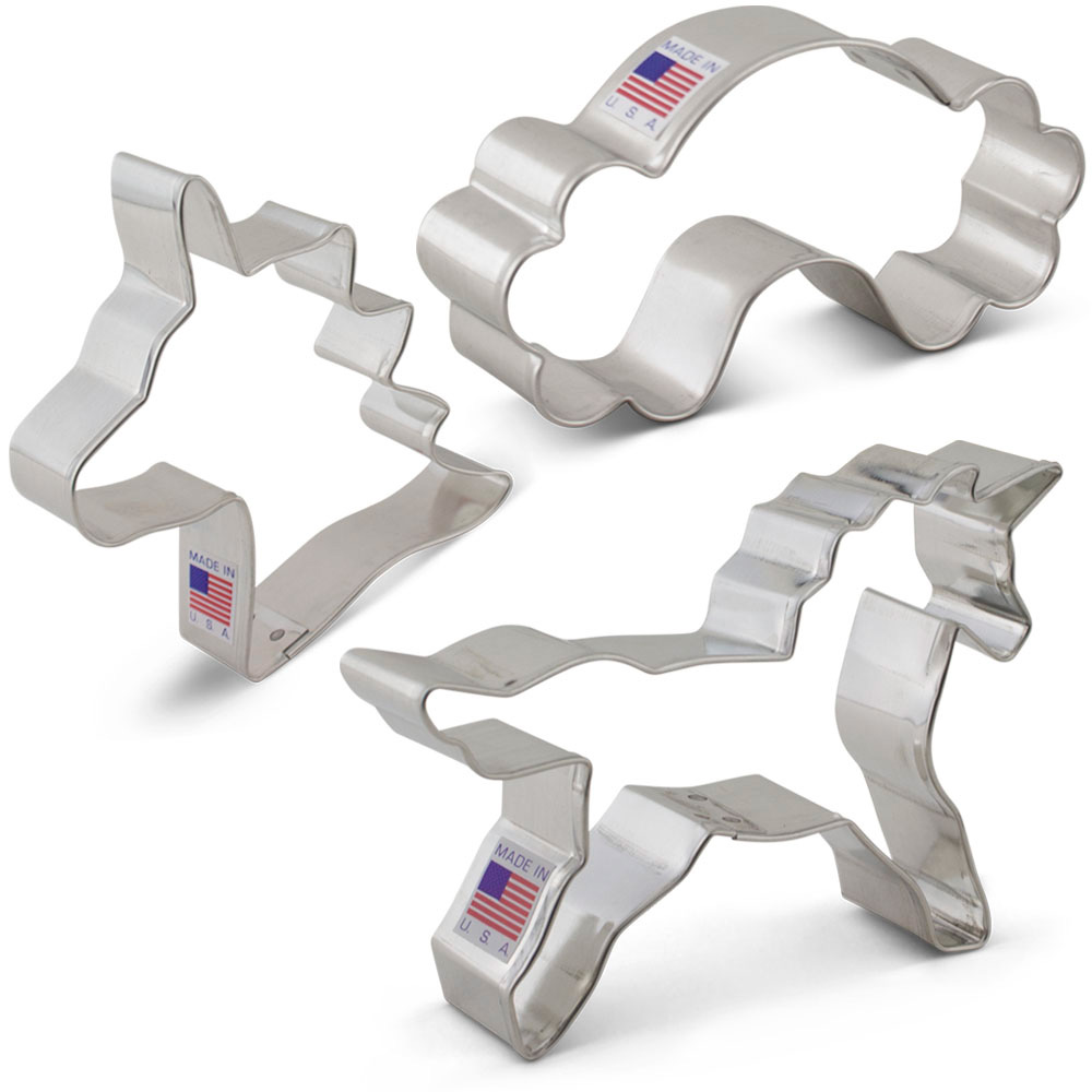 Unicorn Cookie Cutter 3 pc Set