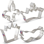 Mardi Gras Cookie Cutter 4 pc set
