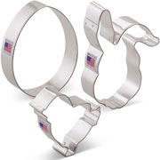 Easter Cookie Cutter 3 pc Set w/ Egg