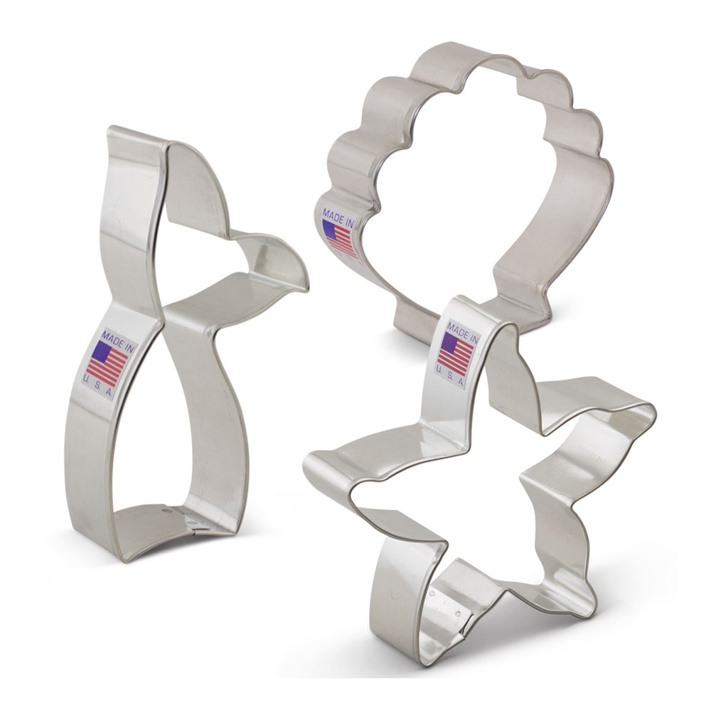 Mermaid Cookie Cutter 3 pc set