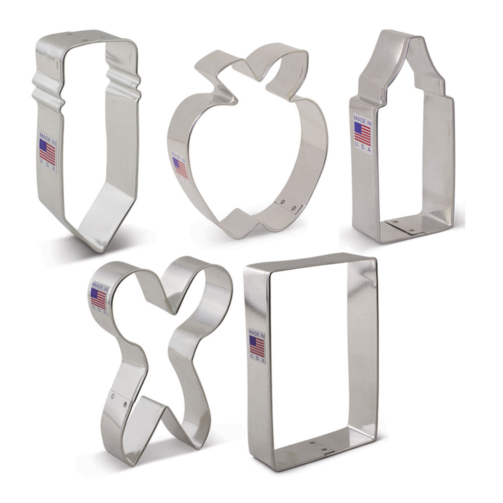Back to School Cookie Cutter 5 pc set