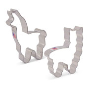 Llama/Alpaca Cookie Cutter 2 pc set