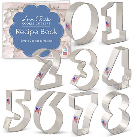 Numbers 9-Piece Cookie Cutter Set