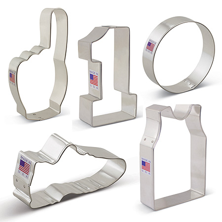 Basketball Cookie Cutter 5 pc Set