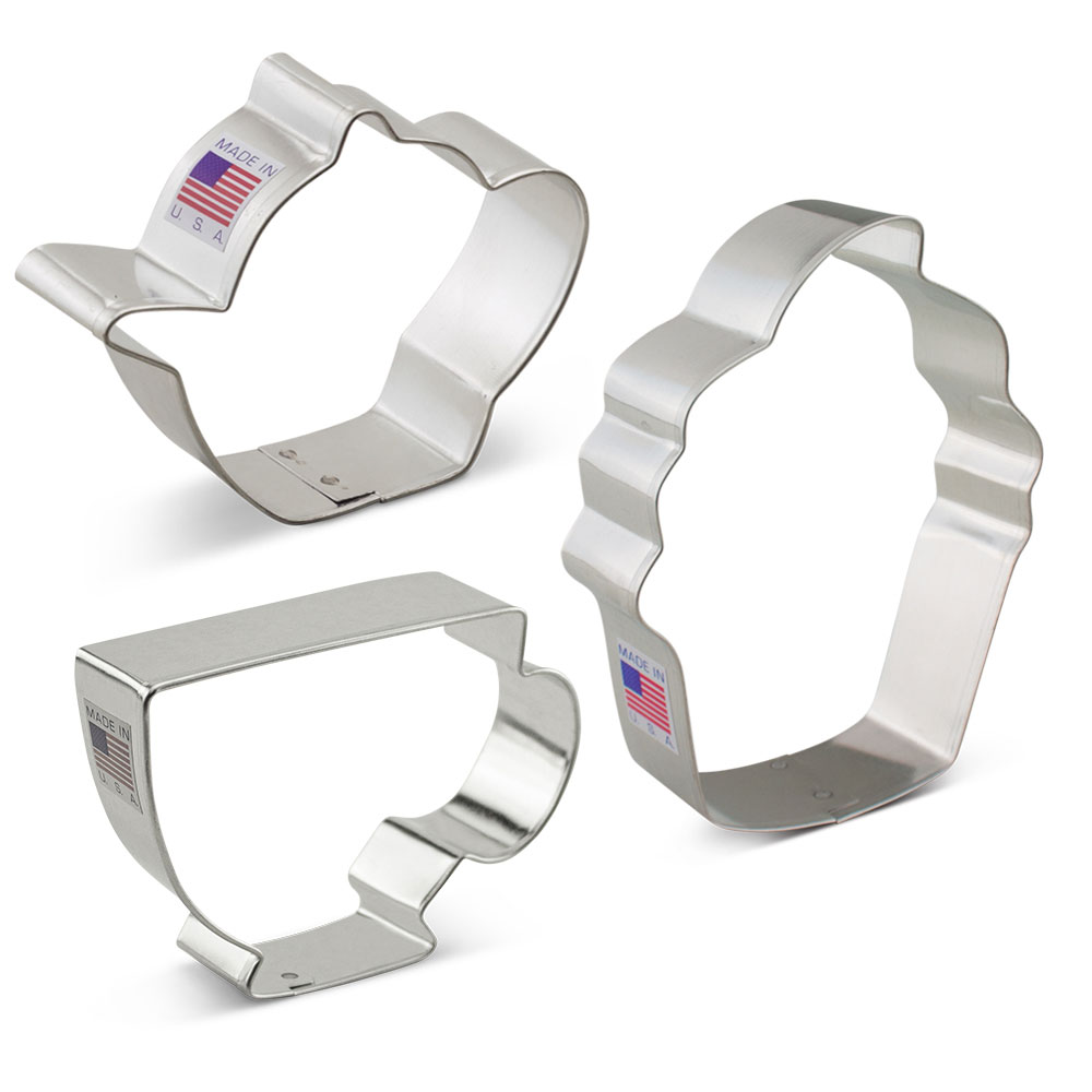 Tea Party Cookie Cutter 3 pc Set
