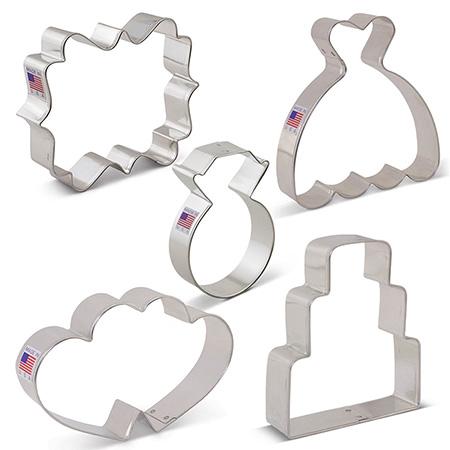 Wedding Cookie Cutter 5 pc Set
