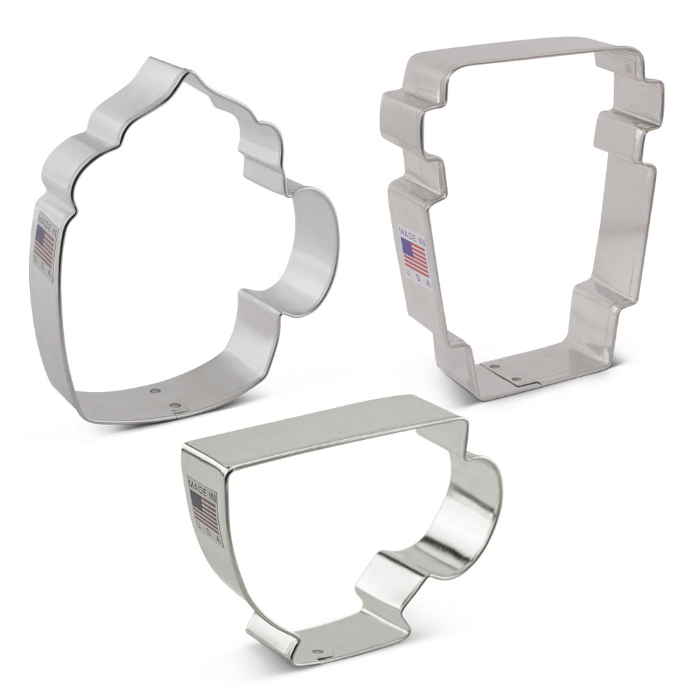 Coffee/Tea Cookie Cutter 3 pc Set