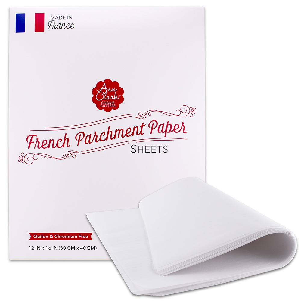 """Ann Clark Parchment Paper Baking Sheets, Made in France, all natural, non-stick, 16"""" x 12"""" pre-cut, 100 count"""