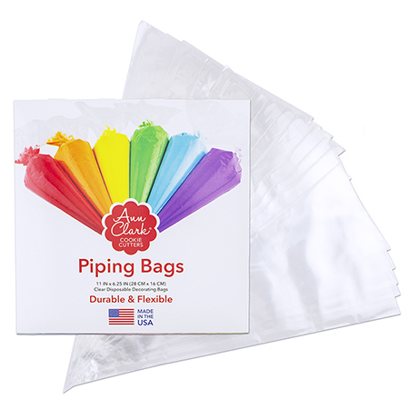 """Ann Clark Cookie Cutters Piping Bags Disposable 11"""" Cookie and Cake Decorating Bags 48 Count"""